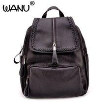 Wanu Повседневное Новый Стиль кожа Школьные сумки Высокое качество Лидер продаж Для женщин конфеты сцепления Ofertas известный дизайнер марки рюкзак