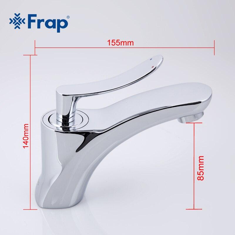 FRAP chrome couleur accueil salle de bains bassin robinets mitigeur froide et débit d'eau chaude sans éclaboussures aérateur doux bulle D'eau - 2