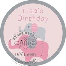 Бумага, индивидуальная клейкая наклейка/Label, детская игрушка в ванную/день рождения, круг 5 см, B25