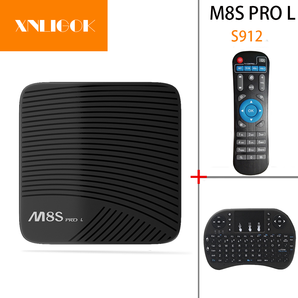 M8S PRO L Android 7.1 Smart TV Box Amlogic S912 3G/16G 3G/32G Octa Core Wifi 4 K Full HD2.0 M8S PRO L Set Top Box