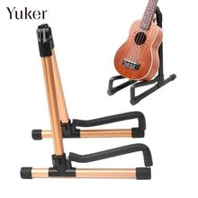 Yuker Portable A-frame Guitar Stand Holder Bracket Mount Foldable Universal for Acoustic Classical Electric Guitar Ukulele Bass