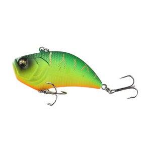 Image 4 - Leurre de pêche rigide vibrant en plastique ABS avec yeux 3D, matériel de pêche, Wobblers, avec hochet bruyant, 12g, 5.2cm, 1 pièce