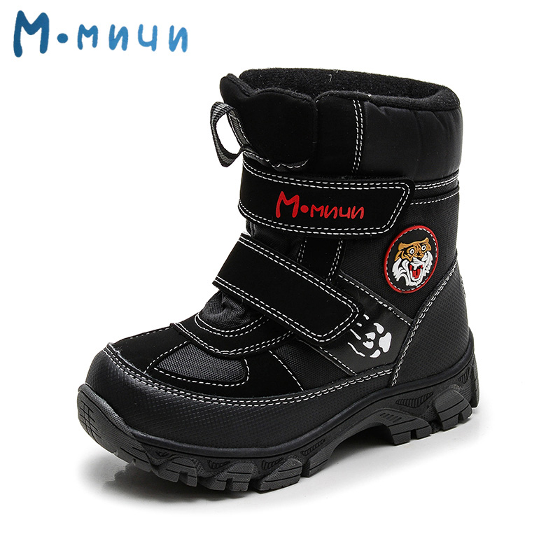 MMNUN Warm Tiger Printing Winter Boots for Boys Anti-slip Snow Boots Children Toddle Boys Children's Shoes for Boys Size 27-32 kids boots 2016 winter warm shoes children s casual shoes boys comfort snow boots boy casual boots size 26 37