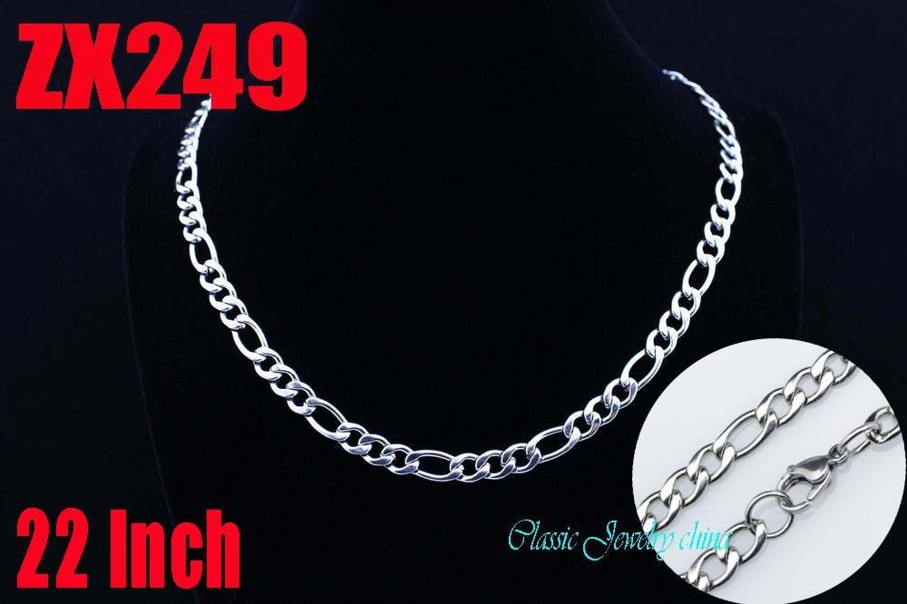 6 ملليمتر فيجارو سلسلة المقاوم للصدأ قلادة 3:1 nk المرأة الأزياء سترة سلسلة المجوهرات 20 قطع ZX249-في قلادات وسلاسل من الإكسسوارات والجواهر على  مجموعة 1
