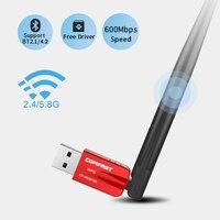 5 ГГц Беспроводной Wi-Fi адаптер 600 Мбит/с двухдиапазонная антенна 802.11AC Бесплатный драйвер USB Bluetooth 4,2 адаптер сетевой карты Wi-Fi приемник