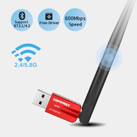 5,8 ГГц USB Беспроводной Wifi адаптер 600 Мбит 802.11ac Бесплатная драйвер USB ethernet Bluetooth 4,2 адаптер сетевой карты Wi-Fi приемник