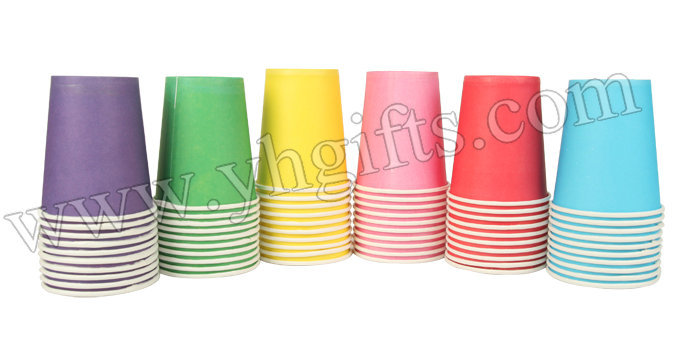 60PCS/LOT.Blank colorful cup,Disposable paper cup,Craft