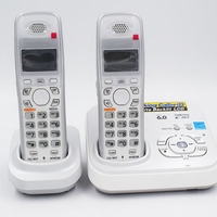 2 PCS Digital Cordless Phone With Call ID Answer System Wireless Base Station Cordless Fixed Telephone