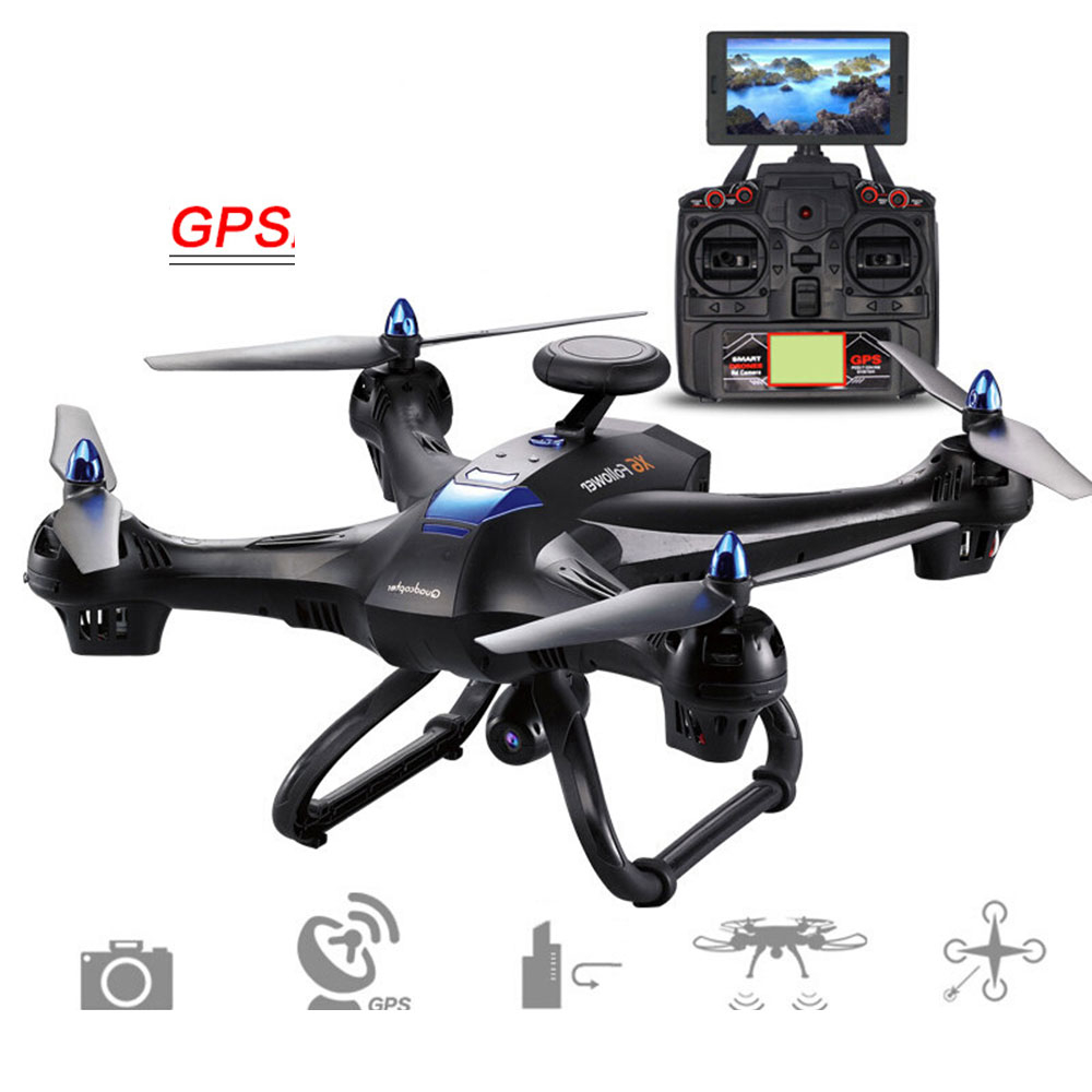 Phoota 2.4GHz 4 Channel 6 Axis GPS FPV HD 720P 2.0MP Camera WiFi Hover Altitude Hold Remote Control Quadcopter Aircraft Drone mjx x601h wifi fpv 720p cam air pressure altitude hold 2 4ghz app control 4 channel 6 axis gyro hexacopter 3d rollover