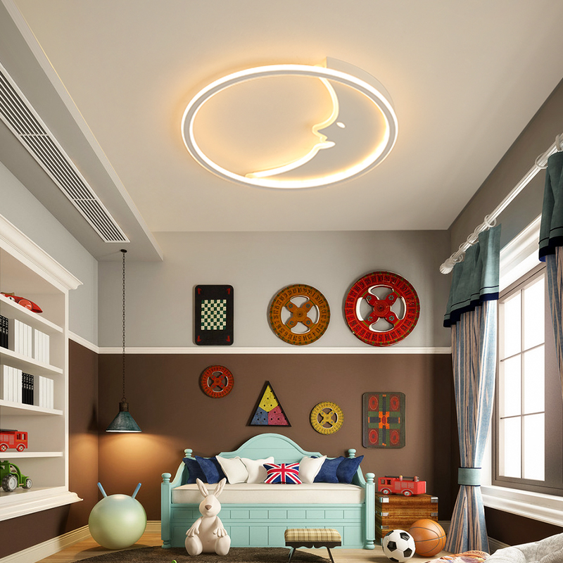 Creative personality moon Modern ceiling lights for bedroom Simple modern round living room lamp study art ceiling lamp fixtures simple style ceiling light wooden porch lamp square ceiling lamp modern single head decorative lamp for balcony corridor study