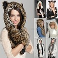 Women winter fur hat female winter animal cap faux fur cartoon caps belt scarf Christmas gifts for women Girls 50