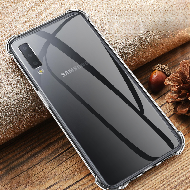 Silicone TPU Case For Samsung Galaxy S10 E S10 Plus A7 A9 2018 Transparent Airbag Anti-Drop Cover Galaxy A6 A8 Plus 2018 Capa
