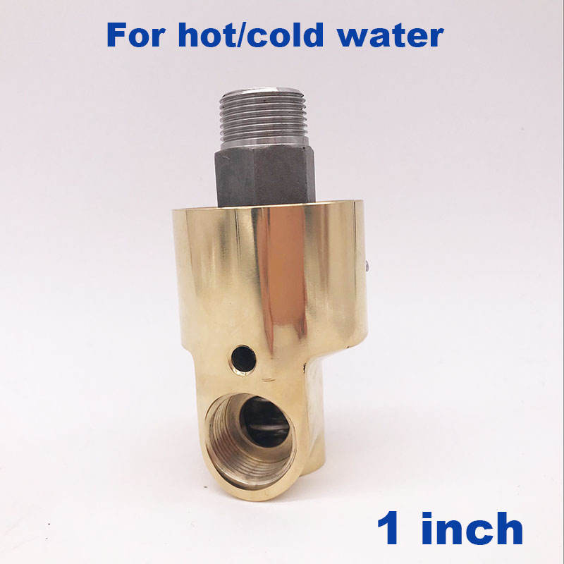 GOGO Left Right hand thread high temperature industrial cold water brass swivel fitting rotating connector 1