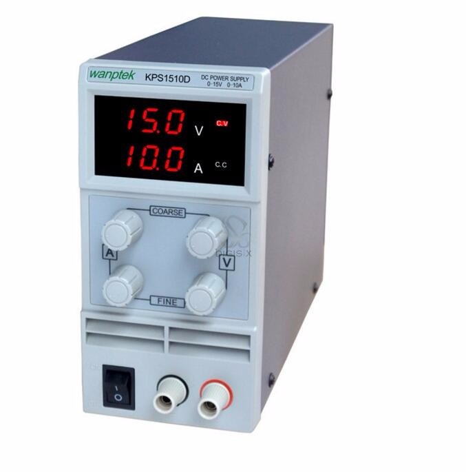 ФОТО KPS1510D Adjustable Variable Portable Mini DC Switching Power Supply Output 0-15V 0-10A Support AC110-220V