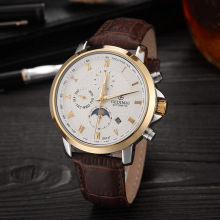 GEDIMAI Watch Men Automatic Mechanical Watches Luxury Brand Relogio Masculino Sapphire Moon Phase Mens Relojes Hombre