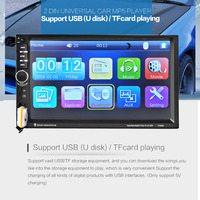 2017 hot 7060B 7 inch Bluetooth Vehicle Auto Car MP5 Video Player In Touch Screen Support MP3 USB TF AUX FM & Remote Control