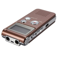 ELEGIANT Rechargeable 8GB Portable Digital Voice Recorder Audio Dictaphone MP3 Player Telephone Recorder Screen For Meeting