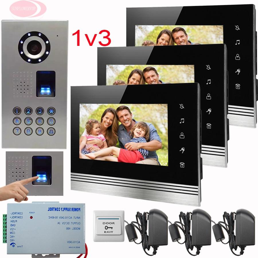 SUNFLOWERVDP Teléfono de puerta para el hogar 7 '' Color Touch key - Seguridad y protección