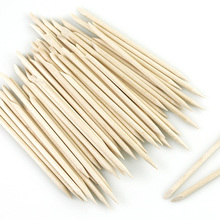 100/50/10Pcs/Bag Wooden Cuticle Pusher Orange For Manicure Pedicure Dead Skin Remove Nail File Art Tools Set