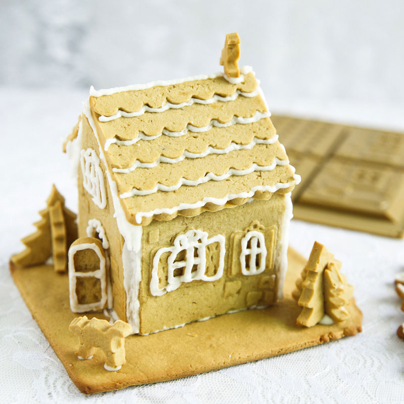 2PCS Silicone 3D Chocolate Mold Wedding Christmas Gingerbread House ...