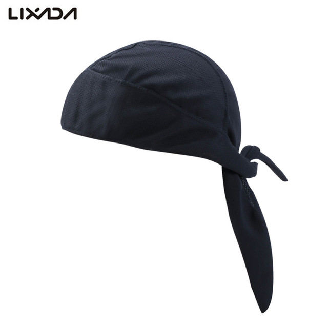 Lixada Cycling Cap Quick Dry Pure Headscarf Summer Men Bandana Headscarf  Pirate Hat Hood Headband Turban ab2c1ff08853