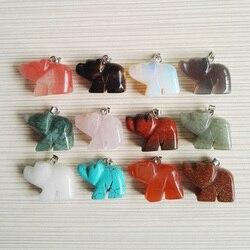 Livraison gratuite pierre naturelle Cubs pendentifs mode animaux pierre pendentifs fit colliers fabrication de bijoux en gros 12 pcs/lot