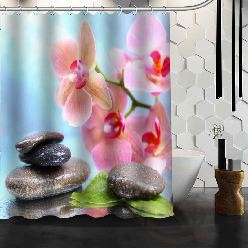 Best Nice Custom Zen Stone Shower Curtain Bath Curtain Waterproof Fabric For Bathroom MORE SIZE W#@4