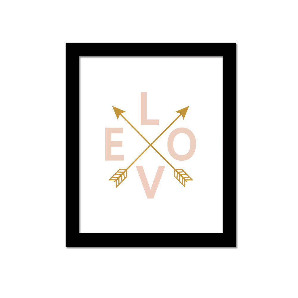 P58 Love Canvas Art Print Wall Poster Decorative Picture Home Decor Frame Not Include