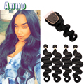 7a Virgin Brazilian Body Wave With Closure 4 Bundles Brazilian Virgin Hair Bundle And Closure Deals Ms Here Hair Company