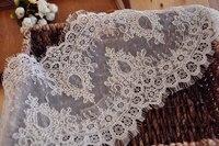 3 Yards Chantilly Lace Fabric for Birdal Veil , Alencon Lace Trim Eyelash for Wedding Gown, Bridal Dress