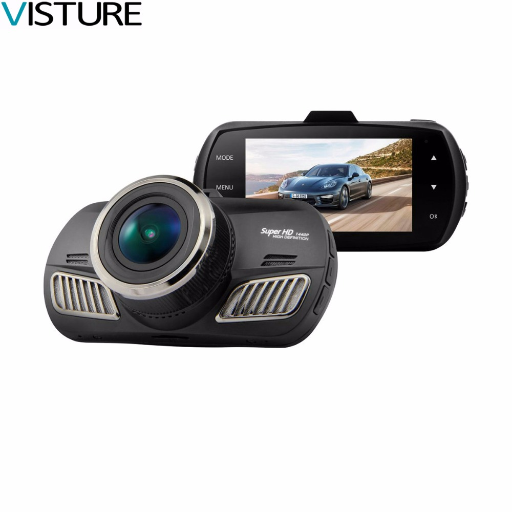 Car DVR Camera Ambarella A12 GPS HD 1440p 30fps Video Recorder With G-sensor HDR ADAS Cycle Recording Dash Cam Visture DAB201 g52d ambarella a7 car dvr camera hd video recorder blackbox with g sensor dash cam