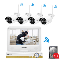 Wistino Security WIFI Kit HD 960P NVR CCTV Camera System IP Cameras Outdoor Surveillance Video Monitor