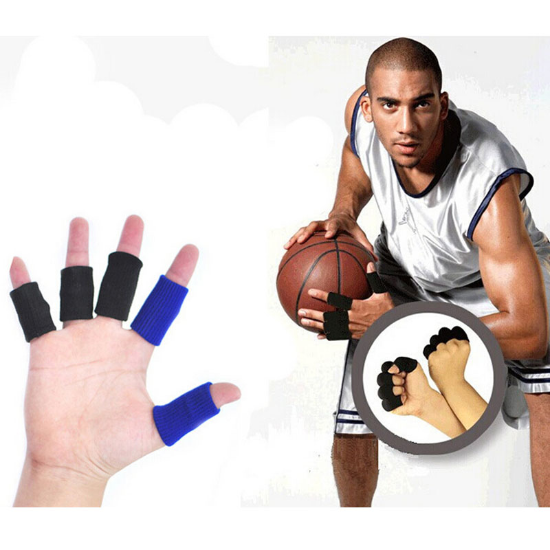 1pcs Basketball Volleyball Sports Finger Armfuls Knitted Finger Joints Slip Elastic Fingerstall Caps Protective Pad Black Hot! Office & School Supplies