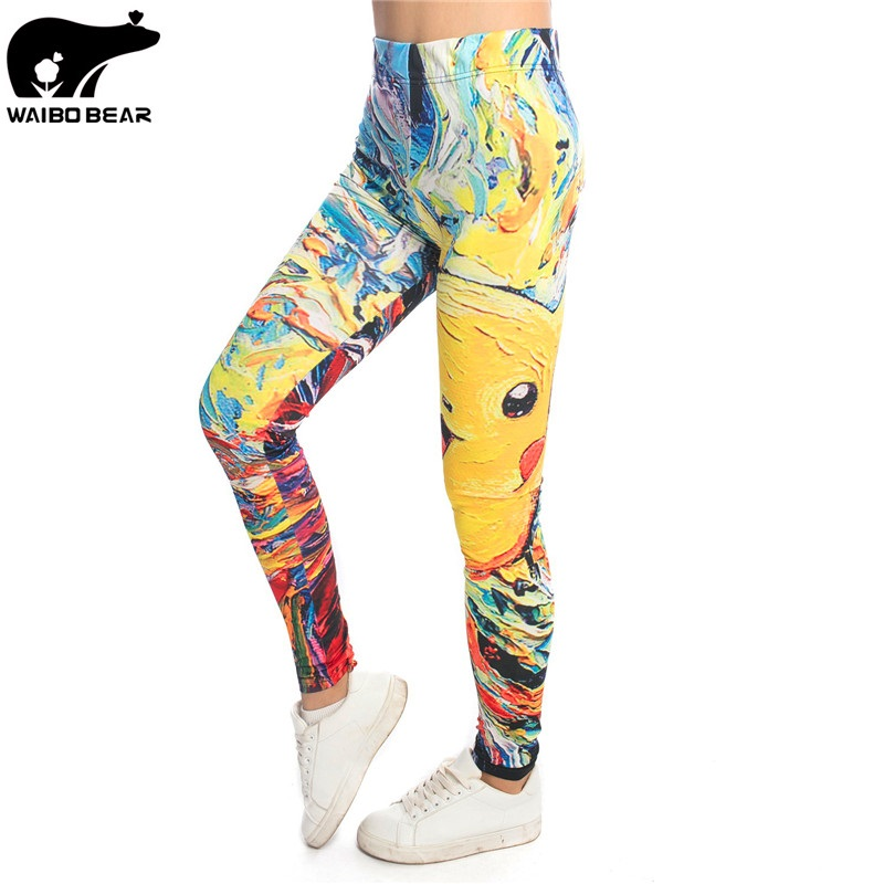 Anime Pokemon 3D Women Leggings Fitness Skinny Leggins Legins High Waist Elastic Pant Cartoon Sexy Mujer Pantalon Brand Colorful