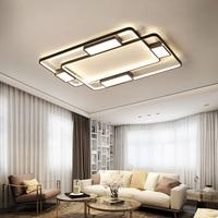 Современный светодио дный светодиодный потолочный светильник для гостиной спальни белый и черный Домашний Светильник потолочный светильн