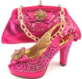 Matching Shoes and Bags for African Party Pink Color Italian Shoe with Bag  for Party for Women Nigerian Women Shoes and Bag SetsUSD 54.75 set bd759529c243