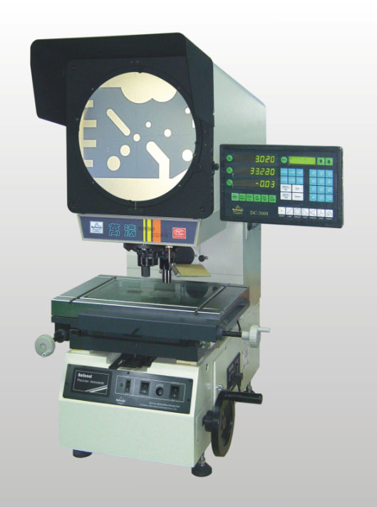 Rational good quality Measuring Profile Projector 3010 3015 3020 3025 talble travel with DC3000 digital readout linear scale
