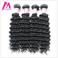6A Maxglam Hair Brazilian Deep Wave Curly Virgin Hair 4pcs/lot Human Hair Weave Full and Thich Mink Brazilian Hair