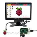 Elecrow Raspberry Pi 3 7 Inch TFT Color Monitor HD 1080P LCD Screen HDMI + VGA + AV Car Display Rear View With Remote Control