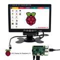 Elecrow Raspberry Pi 3 7 Polegada TFT a Cores Monitor HD 1080 P LCD tela HDMI + VGA + AV Monitor Do Carro Retrovisor Com Controle Remoto controle