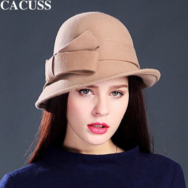 Originality Accessory Store Caucss brand hats female fedoras hats winter hats women high quality wool hats keep warm outdoor caps women elegant hats