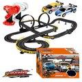 Горячее Надувательство 1100 см 1:43 Электрический вагон трек набор двойной RC гонки детские toys мальчиков подарок DIY ассамблеи toys для детей литья под давлением