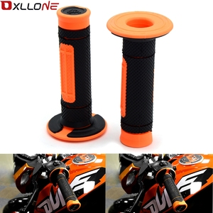 """Image 1 - 7/8 """"22 مللي متر البرتقال دراجة نارية المطاط مقبض اليد مقبض هلام ل KTM Duke 125 200 250 390 EXC exf SX SXF XC XCF XCW 2004 2017 2018"""