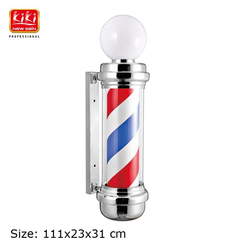 KIKI.337C.small size autorotation Barber Pole.with lamp.Professional barber Salon Equipment.Barber Sign.popular barber producs