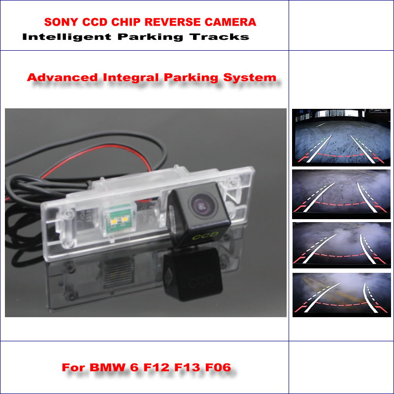 ФОТО HD SONY Car Rear Camera For BMW 6 F12 F13 F06 Intelligent Parking Tracks Reverse Backup / NTSC RCA AUX 580 TV Lines