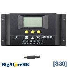 Контроллер заряда солнечной батареи 30 А, ЖК дисплей, 12 В, 360 Вт, солнечная панель 24 В 720 Вт, солнечная панель, светильник с таймером, регулятор солнечной батареи SOLAR30