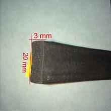 купить 20mm x 3mm self adhesive extruded flat epdm rubber foam cabinet door window seal strip по цене 308.72 рублей