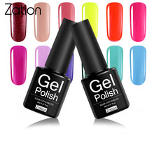 Zação Cor Nude Borracha Uv Unhas de Gel Polonês 8 ml GelPolish Embeber Off LED UV Top Coat Base de Semi Permanente verniz Nail Art Manicure(China)