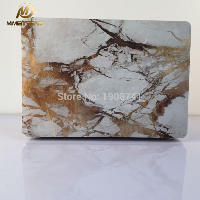Mimiatrend Marble Grain Hard Cover Case For Macbook Air Pro Retina 11 12 13 15 Inch Protector For Macbook + Screen Protector