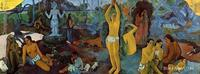 Fine art modern Where Do We Come From What Are We Doing Where Are We Going by Paul Gauguin paintings Hand painted High quality